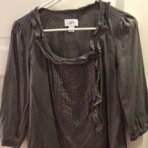 Anne Taylor Gray blouse